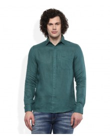 Green Solid Shirt By Pepe Jeans