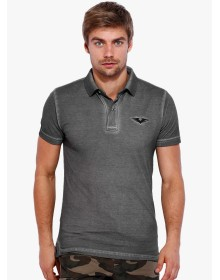 Grey Solid Polo T-Shirt By Rookies