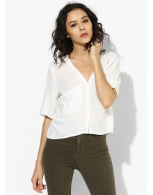 Casual Short Sleeve Shirt By TOPSHOP