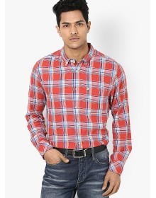 Red Full Sleeve Casual Shirt By Quiksilver