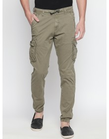 Khaki Green Solid Cargo Pant-ABCD(Similar Style)