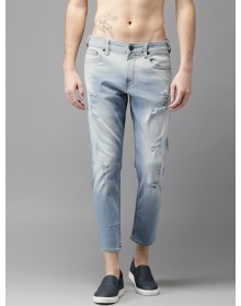 Light Blue High Distressed Jeans-ABCD(Similar Style)