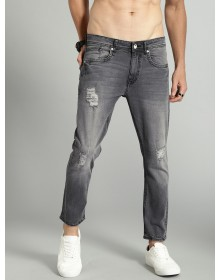 High Distressed Grey Jeans-ABCD(Similar Style)