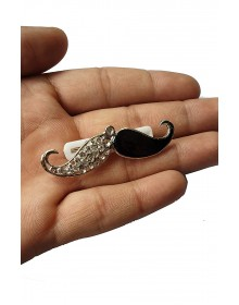Black And White Mustache Brooch-ABCD(Similar Style)