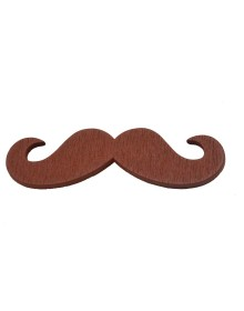 Sullery Designer Wooden Mustache Brooch-ABCD(Similar Style)