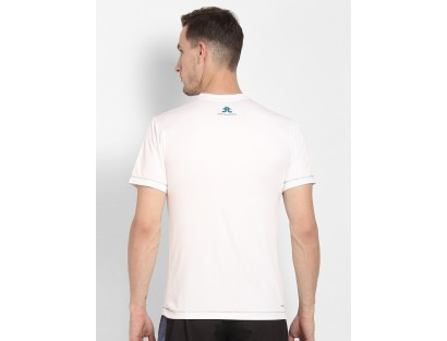 White Solid Round Neck T-shirt-ABCD(Similar Style)