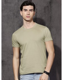 Aqua Olive Solid Tee-ABCD(Similar Style)