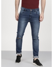Yale Blue Slashed Knee Jean-ABCD(Similar Style)