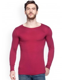 Maroon Solid T-Shirt-ABCD(Similar Style)