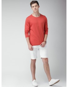 Orange Solid T-Shirt-ABCD(Similar Style)