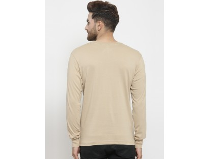 Beige Solid T-Shirt-ABCD(Similar Style)