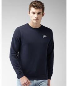 Navy Standard Fit Sportswear CLUB Crew Solid Sweat shirtt-ABCD(Similar Style)