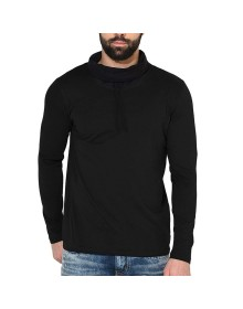 Black Cowl Neck T-Shirt-ABCD(Similar Style)