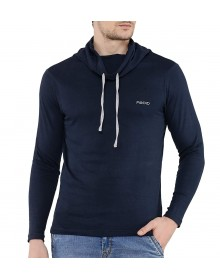Navy Cowl Neck T-Shirt-ABCD(Similar Style)