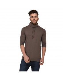 Brown Cowl Neck T-Shirt-ABCD(Similar Style)