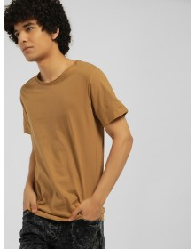 Copper brown Raw Edge Tee-ABCD(Similar Style)