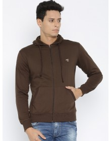 Brown Solid Pullover-ABCD(Similar Style)