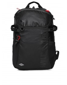 Unisex Black Solid Backpack-ABCD(Similar Style)