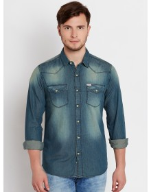 Prussian Blue Double Pocket Denim Shirt-ABCD(Similar Style)