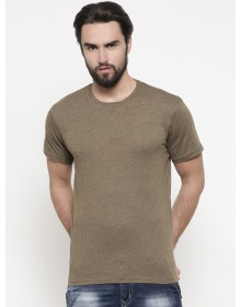 Brown Solid Tee-ABCD(Similar Style)