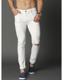 white Slashed Knee Jeans-ABCD(Similar Style)