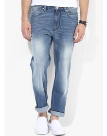 French Connection Light Blue Mid Rise Regular Fit Jeans