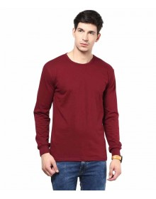 Maroon Cotton T-shirt By IZINC