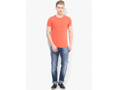 Blue Rise Regular Fit Jeans