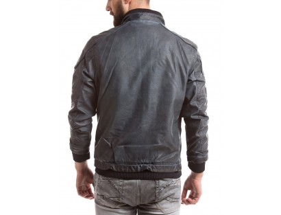 Men's Cotton Black Jacket