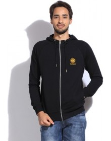 Full Sleeve Solid Black Men's Sweatshirt
