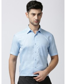 Blue Regular Fit Solid Formal Shirt-AS(Similar Style)