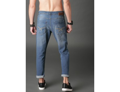 Blue Slim Fit Clean Look Stretchable Jeans-AS(Similar Style)