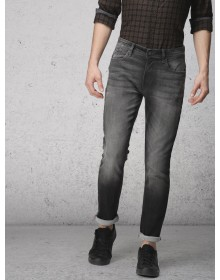 Black Slim Fit Stretchable Jeans-AS(Similar Style)