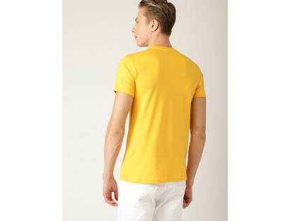 Yellow Casual T-shirt-AS