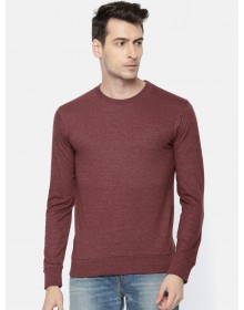 Maroon Melange Solid T-Shirt-AS(Similar Style)