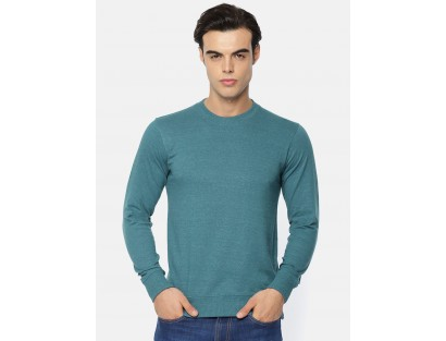 Teal Blue Casual T-Shirt -AS