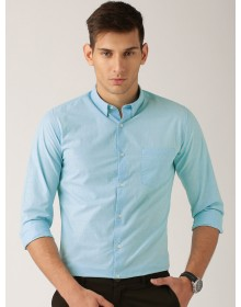 Turquoise Blue Burgundy Solid Shirt-AS(Similar Style)