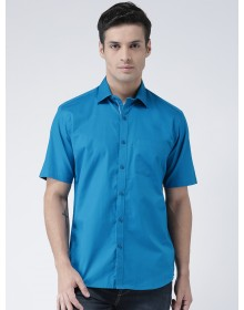 Blue Standard Regular Fit Solid Casual Shirt-AS(Similar Style)