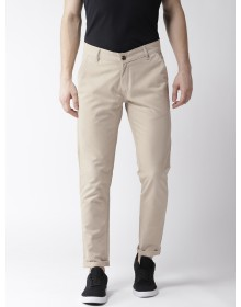 Beige Slim Fit Casual Trouser-AS(Similar Style)