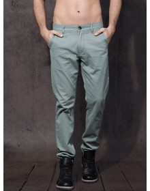 Grey Slim Fit  Casual Chinos-AS(Similar Style)