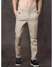 Time Travlr Men Beige Casual Chinos-AS(Similar Style)