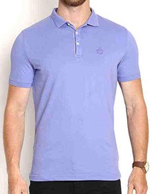 Blue Skinny Fit Polo T-shirt By Blackberry