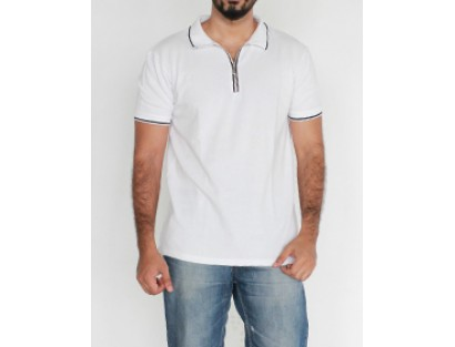 Zara White Polo T shirt