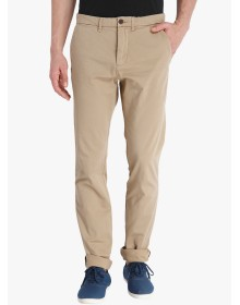 Beige Solid Slim Fit Chinos Jack & Jones