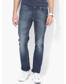 Blue Slim Fit Jeans (Morice) By NU ECO