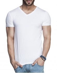 Tinted Men's V-Neck Cotton Shirt