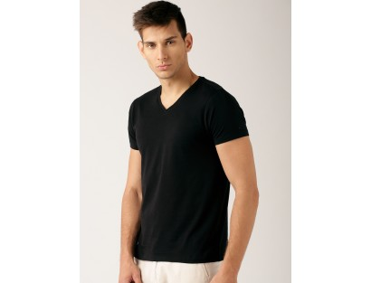 Black Solid T-Shirt-DC(Similar Style)