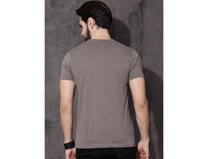 Grey Solid T-Shirt-DC(Similar Style)