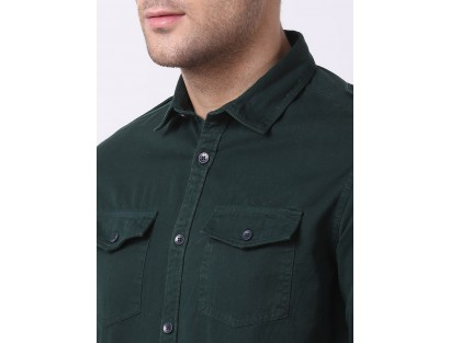 Dark Green Solid Shirt-DC(Similar Style)