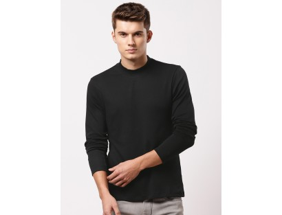 Black Solid T-Shirt-TW